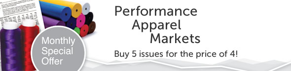 During November 2014 we are offering 5 issues of 'Performance Apparel Markets' for the price of 4!