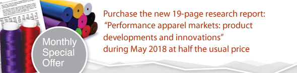 Offer: Purchase the new 19-page research report: 'Performance apparel markets: product developments and innovations' during March 2018 at half the usual price.